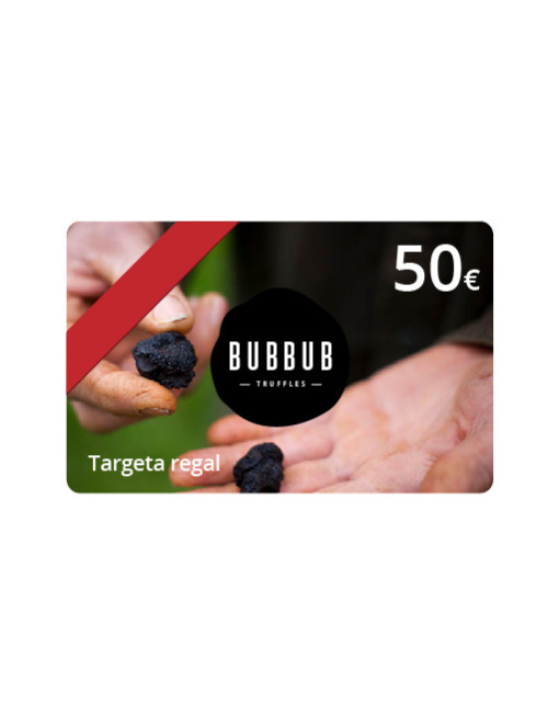 Targeta regal 50 euros Bubbub